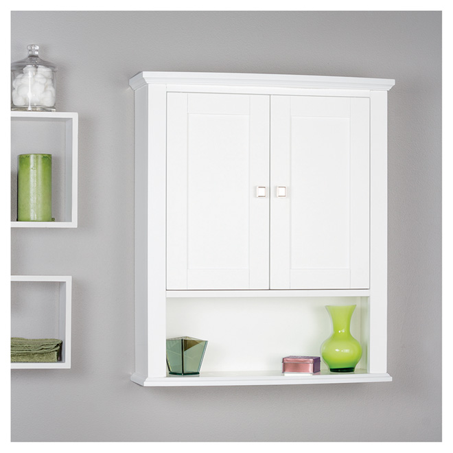 Tallia Medicine Cabinet with 2 doors and 1 shelf - White