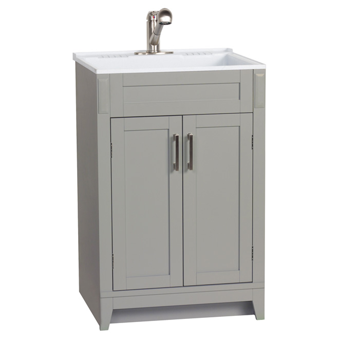 "Laundry Vanity -Axbridge-2 Door - 24"" - Grey"