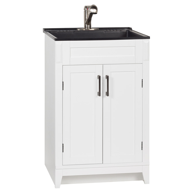 "Laundry Vanity -Axbridge-2 Door-24""-White"