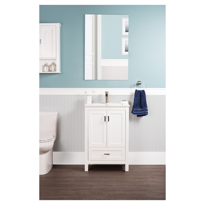 "Vanity and Sink - 2 doors/1 drawer - 24"" - White"