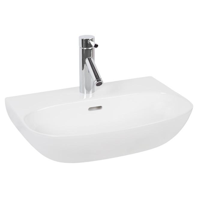 Lavabo vasque Yara, argile, blanc