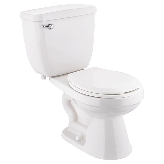 Toilette 2 pièces « Eco To Go » à cuve ronde, 4,8 L, blanc
