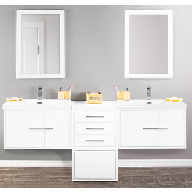 "Meuble-lavabo mural, Carlington, 30"", blanc lustré"