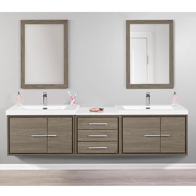 "Wall-Hung Vanity Sink - Carlington - 30"" - Walnut"