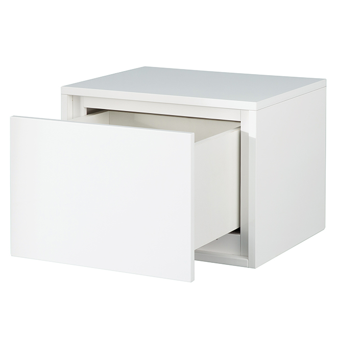 """Cabinet with Wheels - Carlington - 1 Drawer - 20"""" - Gloss White"""