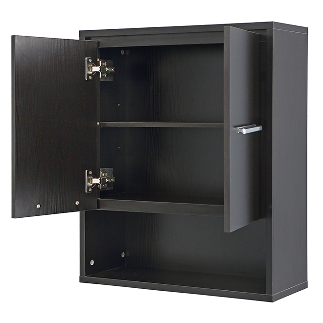 Wall Cabinet - Carlington - 2 Doors/2 Shelves - Espresso
