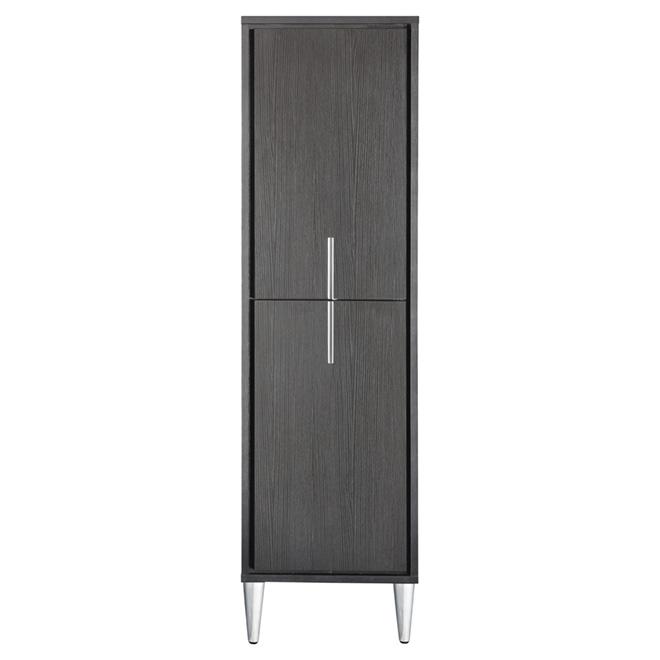 Linen Cabinet - Carlington - 2 Doors/3 Shelves - Espresso