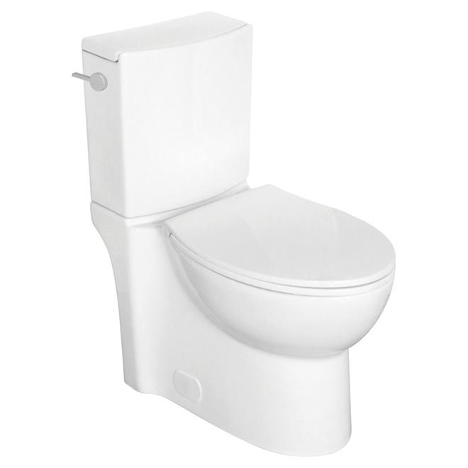 Toilette 2 pièces à cuve allongée, Gillian, 4,8 L, blanc