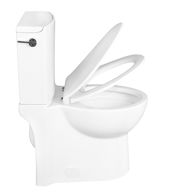 Awesome Elongated Front 2 Piece Toilet Gillian 4 8 L White Evergreenethics Interior Chair Design Evergreenethicsorg