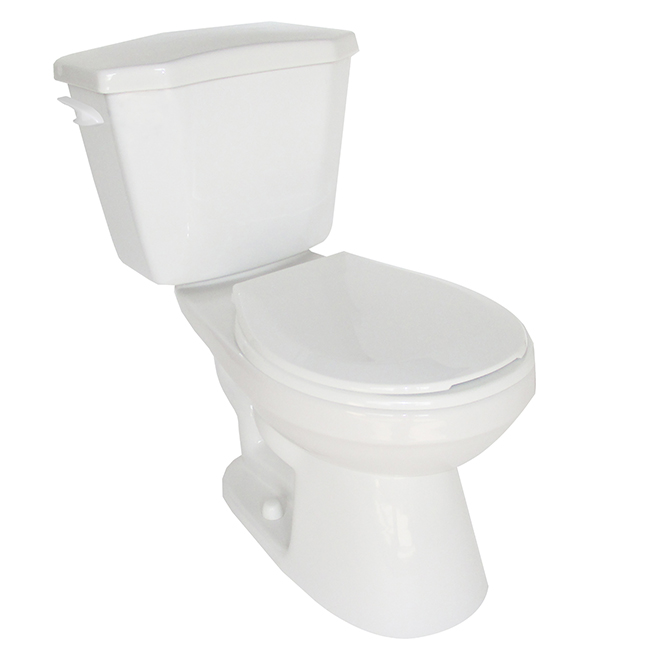 Toilette 2 pièces à cuve ronde, Arlette, 6 L, blanc