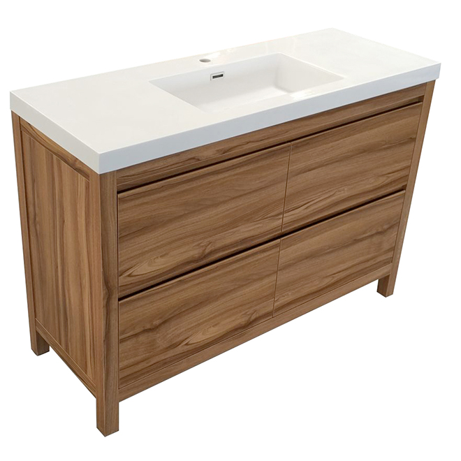 48 vanity with sink. Vanity Sink  Elvyne 4 Drawers 48 Light Walnut RONA