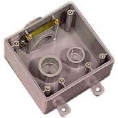 Boîte double grise FSE en PVC