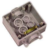 Boîte double grise FSC en PVC