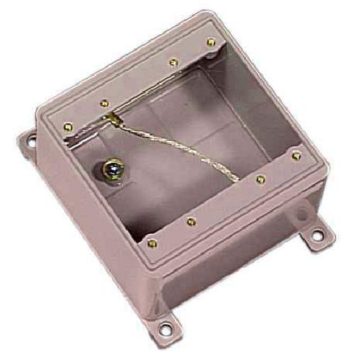 Boîte double grise FD en PVC