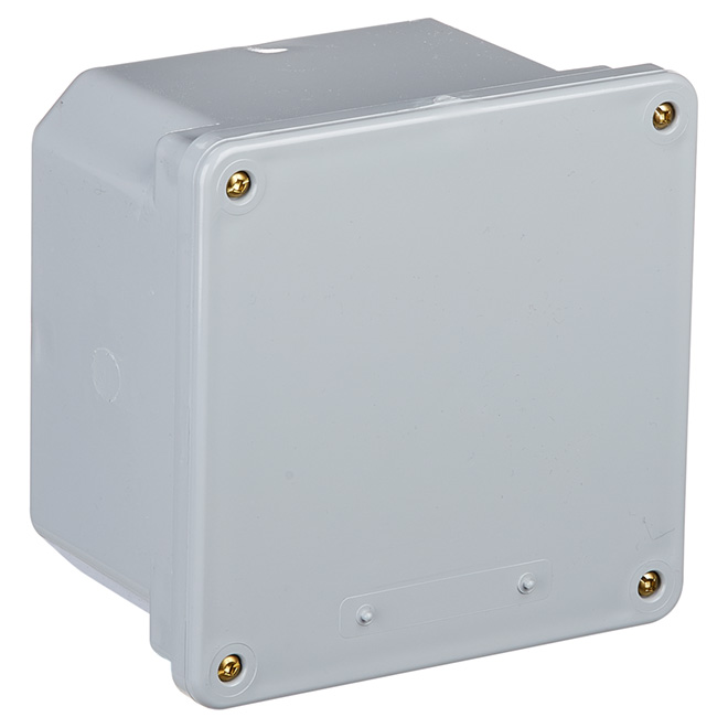 "Junction Box - PVC - 6"" x 6"" x 4"""