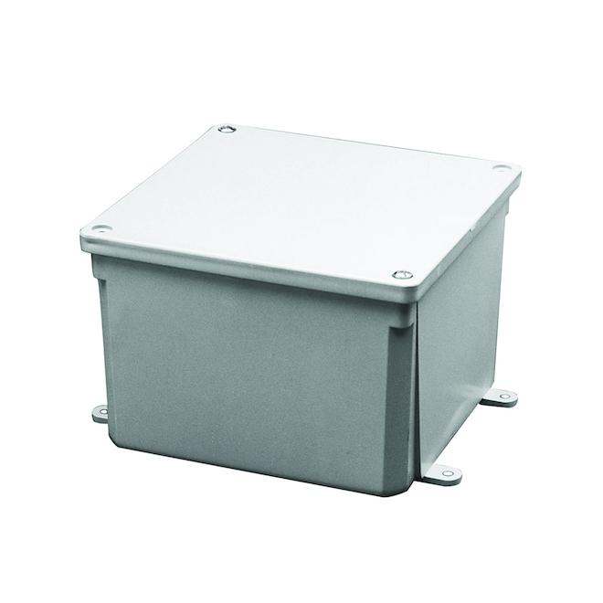 """Junction Box - PVC - 8"""" x 8"""" x 4"""""""