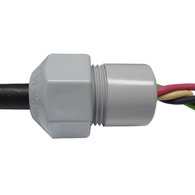 """Connecteur-atténuateur de tension, 3/4"""", gris"""