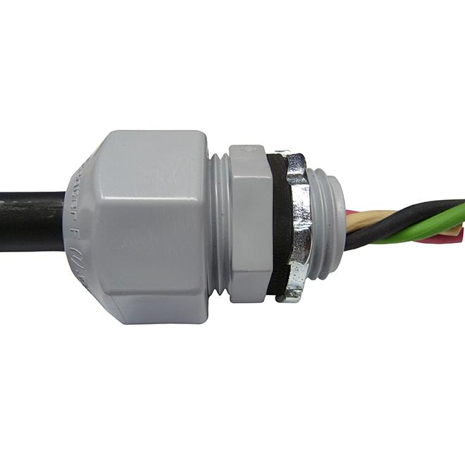 """Connecteur-atténuateur de tension, 1/2"""", gris"""