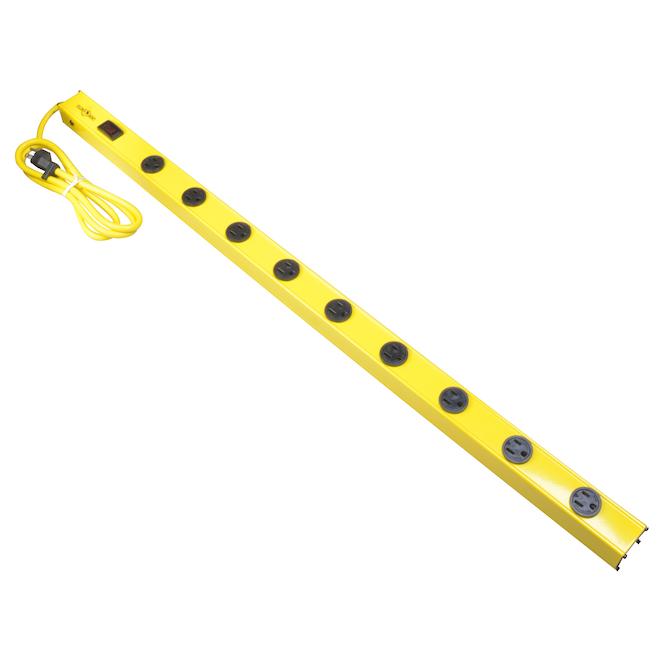 """Lisière à 9 prises Yellow Jacket, 36"""", jaune"""