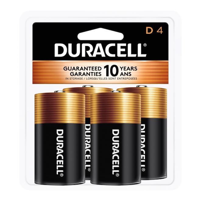 Paquet de 4 piles «D»