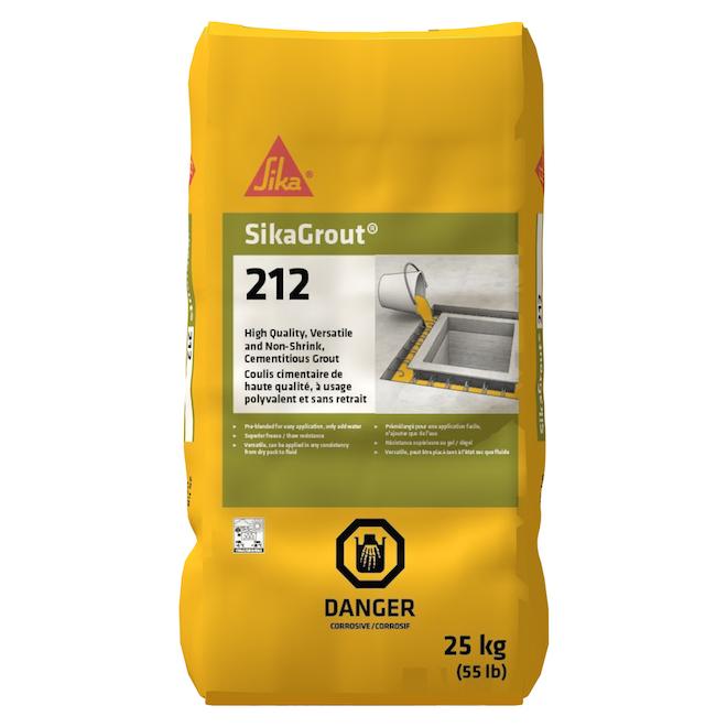 Coulis cimentaire à usage polyvalent sans retrait, 25 kg