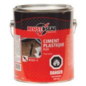 Ciment plastique Flex toute saison, noir, 4kg