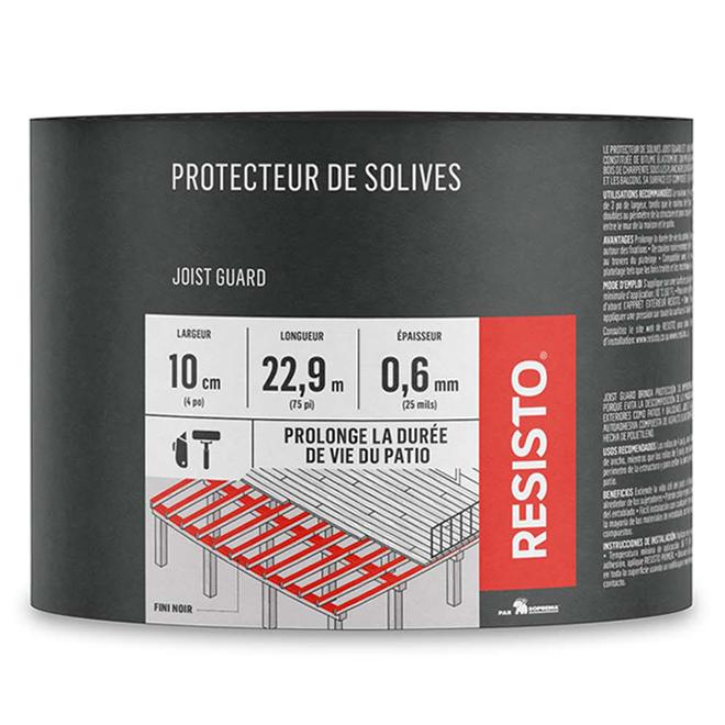 Protecteur imperméable pour solives, 4 po x 75 pi