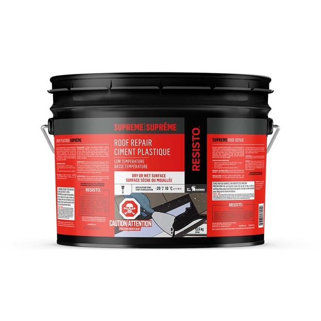 Ciment plastique pour hiver, 13,6 kg, noir