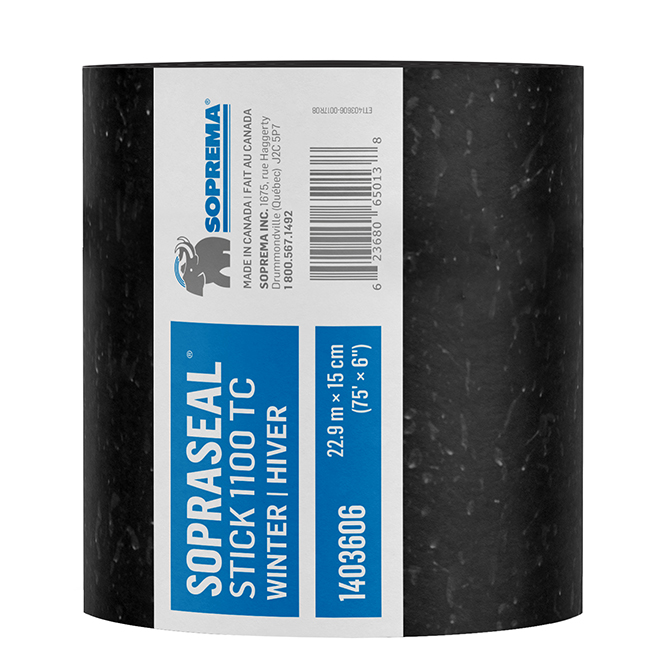 "Membrane autocollante pare-air/vapeur Sopraseal, 75' x 6"""
