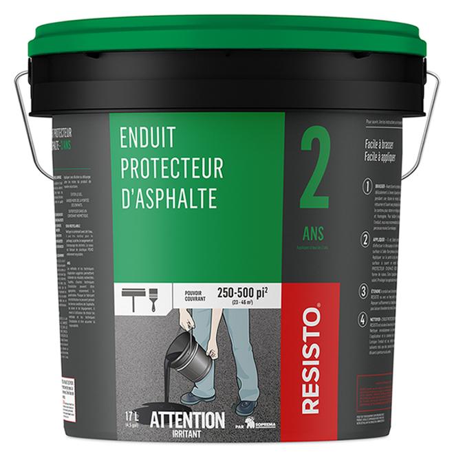 Enduit protecteur d'asphalte 2 ans, 250-500 pi², 17 l