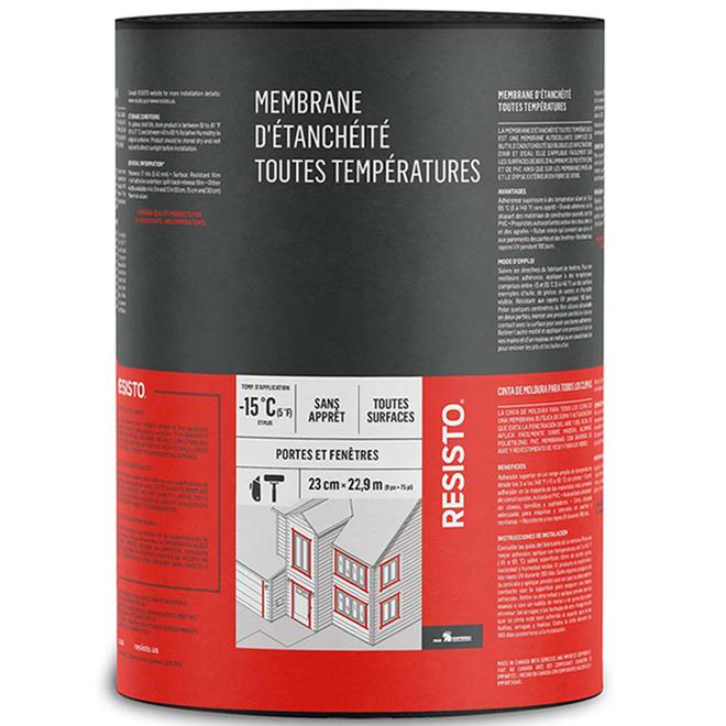 "Membrane d'étanchéité Resisto(MD) Soprema, 9"" x 75', blanc"