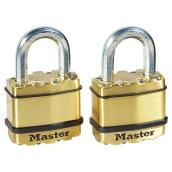 Pack of 2 Padlocks - 1 3/4