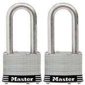 Cadenas à clé Master Lock, 2 po, acier inoxydable laminé, paquet de 2