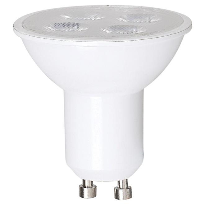 Ampoule DEL GU10 4,5 W, intensité variable, blanc brillant