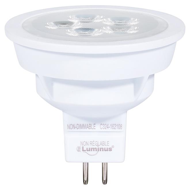 Ampoule DEL MR16 5 W, intensité non réglable, blanc brillant