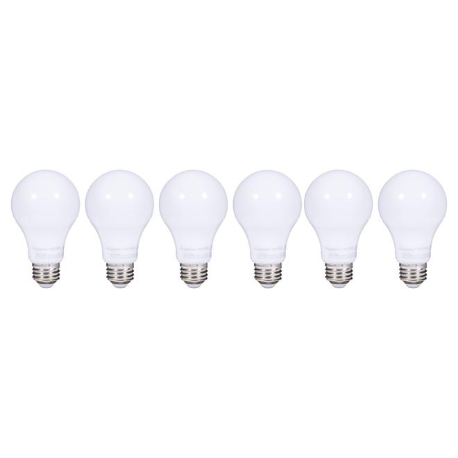 Ampoule DEL A19/9, 5 W, blanc chaud, pqt/6
