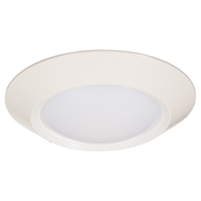 Luminaire rond DEL, 7 W, intensité variable, blanc brillant