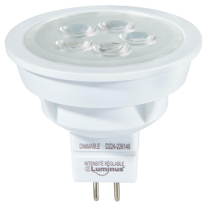Ampoule DEL MR16 5 W, intensité variable, blanc doux