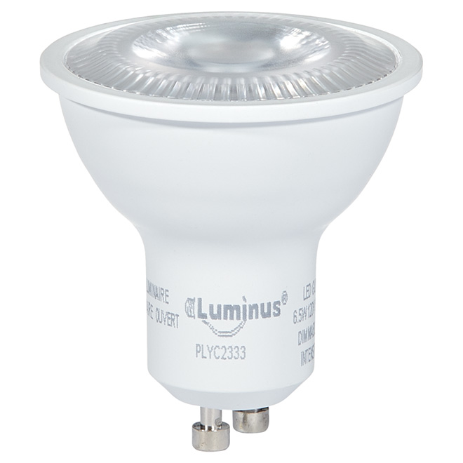 Ampoule DEL GU10 6,5 W, intensité variable, blanc brillant