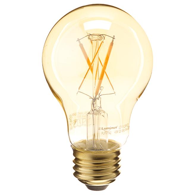 Ampoule à filament DEL, 4,5W/A19, blanc chaud