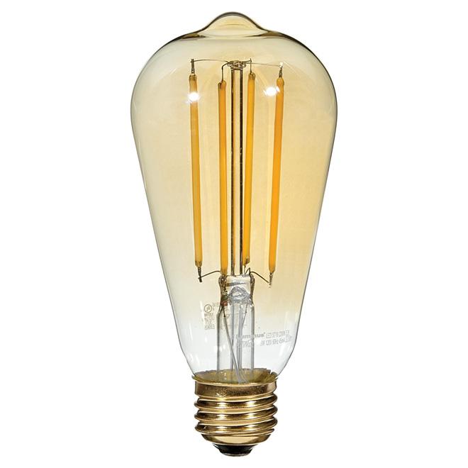 Ampoule à filament DEL, 5W/ST19, chandelle