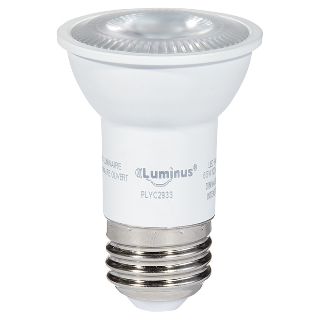 Ampoule DEL 6,5W PAR16, intensité variable, blanc brillant