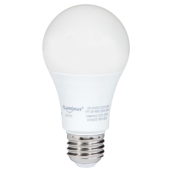 Ampoule DEL A19 Omni 11 W, intensité variable, blanc chaud