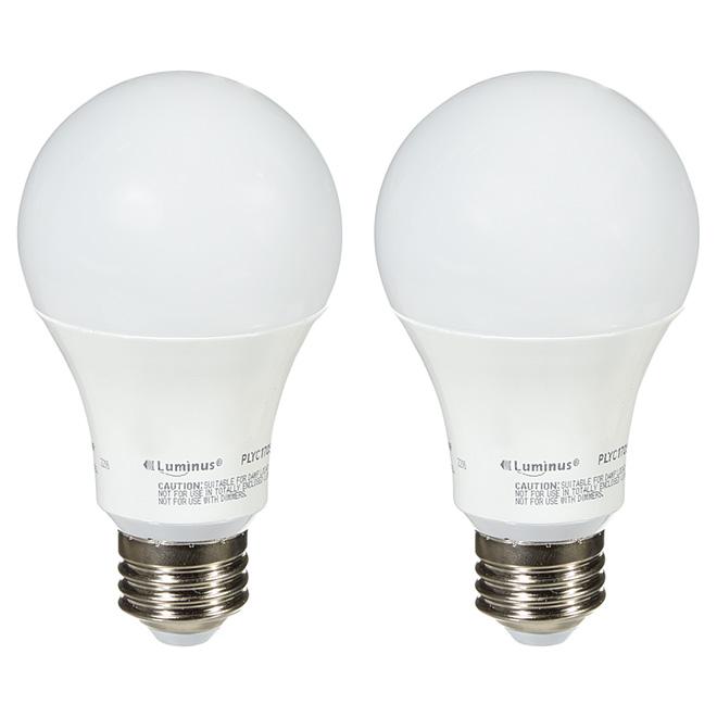 Ampoule DEL A19, 12W, 2/pqt, lumière du jour