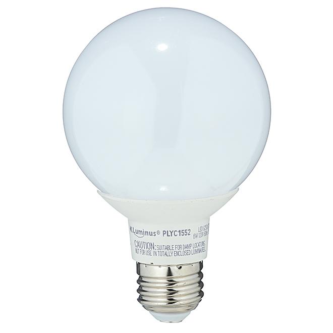 Ampoule DEL, G25, blanc doux