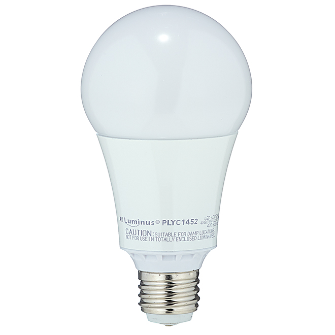 Ampoule DEL, A21, 3 intensités, blanc chaud