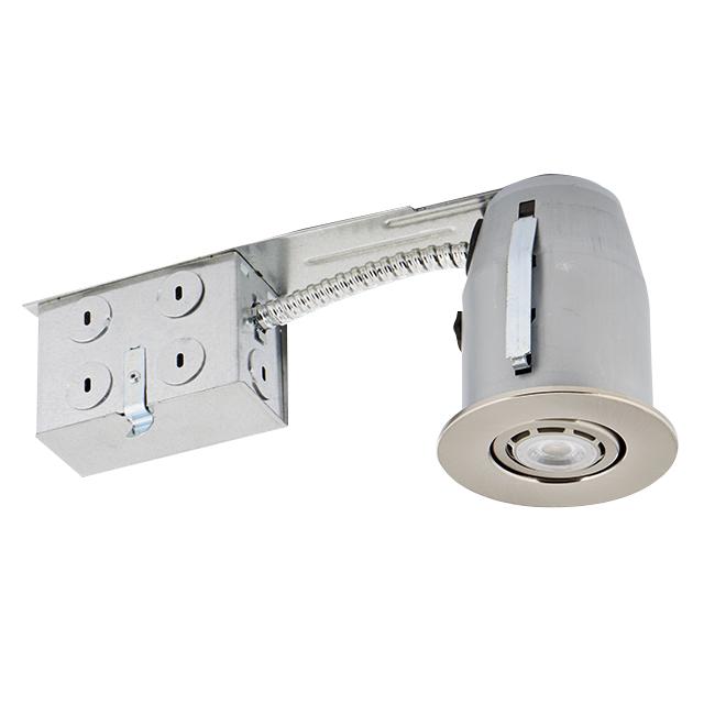 Luminaires encastrés à intensité réglable, DEL 6 W, 4/pqt