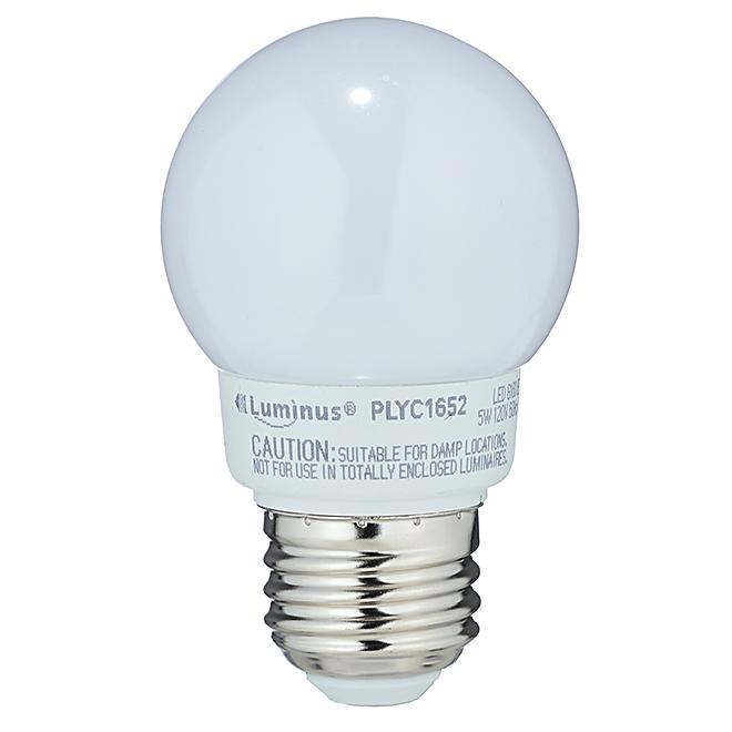 Ampoule DEL G16/5W, intensité variable, blanc chaud