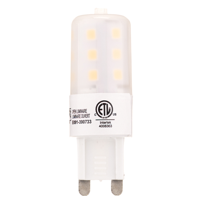 Ampoule DEL G9 4 W, intensité variable, blanc brillant