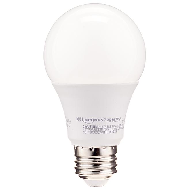 Ampoule DEL A19 6 W, intensité non réglable, blanc ch. 8/pqt